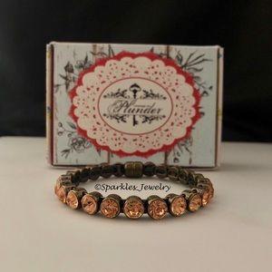Plunder Kayson Bracelet peach crystals